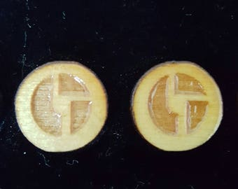 Laser Etched Disco Biscuits earrings