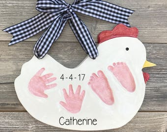 Ceramic Baby Handprints - Handprint Kit - Handprint Mold - Baby Footprint - Ceramic Handprint Kit - Newborn Baby Mold - Childs Keepsake -