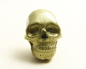 Tiny Gold Skull lapel pin