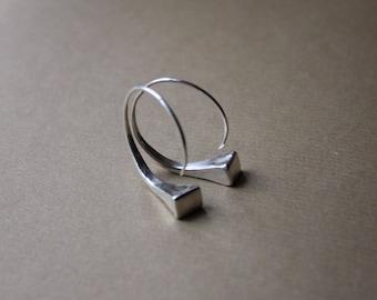 Gypsy Hoop Earring, Small Hoop, Silver Hoops, Hoop Earrings, Horseshoe Nail, Hoop,  Handmade,