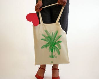 "Bag ""Palm tree"", Tote bag to be personalized, beach bag, shopping bag, shopping bag, cloth bag, cotton tote bag, french, gift"
