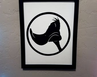 Daffy Duck (Looney Tunes) | Papercut Silhouette