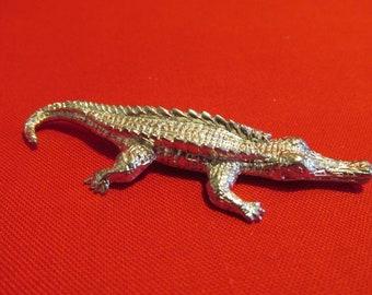 Pewter Alligator  Figurine