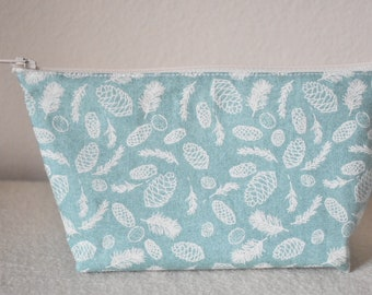Cute Blue And White Make Up Bag. Hand Bag. Change/Coin Purse.