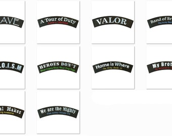10 Military Rockers Bundle Pack (3 x 12 inches)