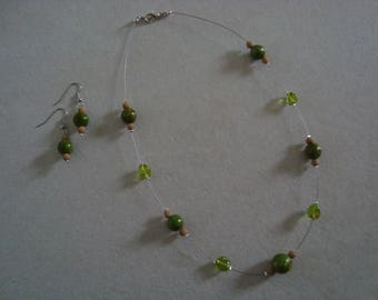 Green beads, simple shape ornament