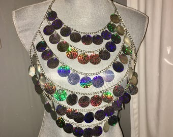Holographic Sequins Body Chain