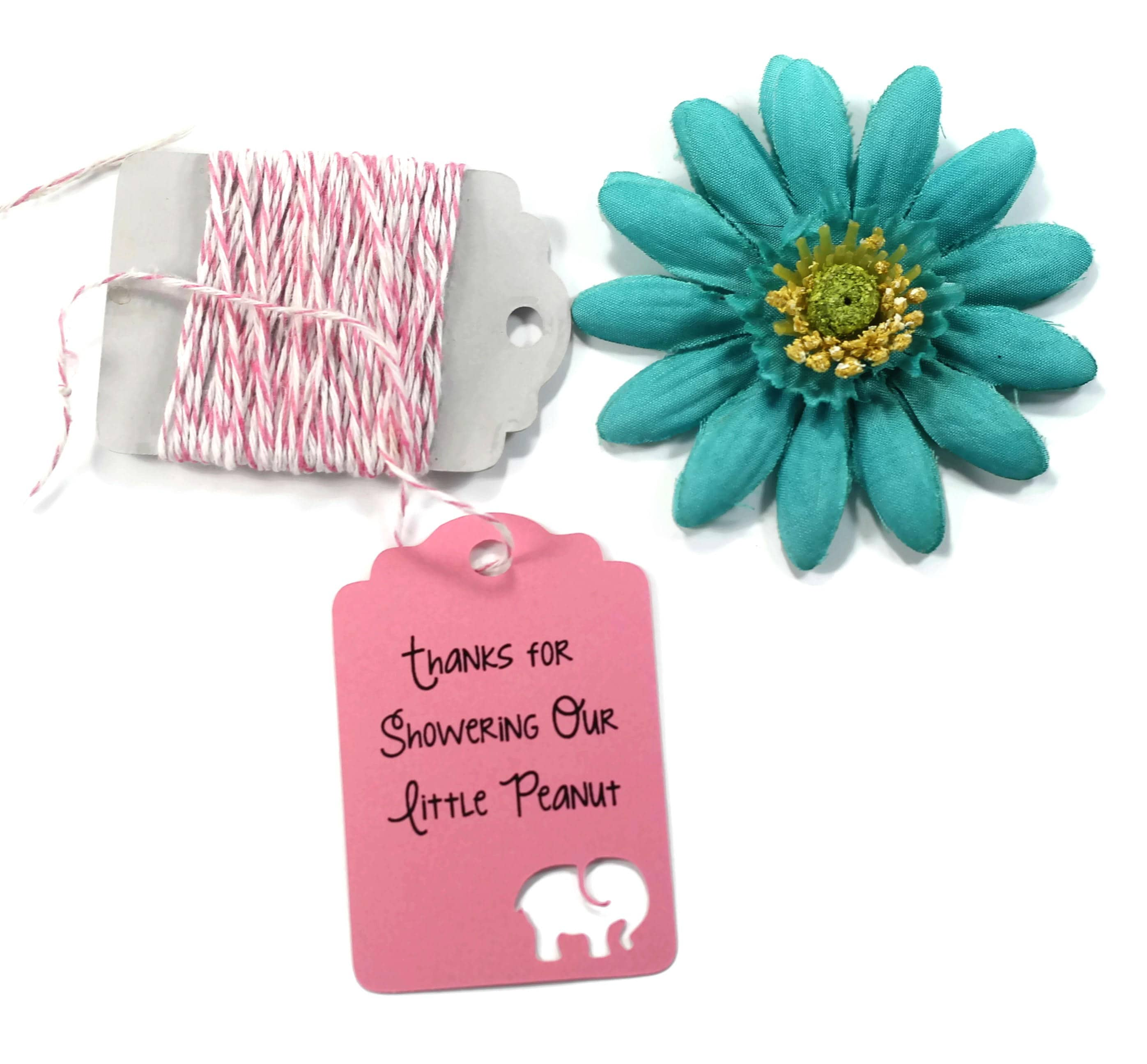 Custom Elephant Baby Shower Tags Set of 20 Personalized Hot