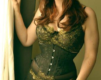 Honoria Waspie underbust corset. Beautiful corsetry