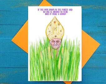 Pope Poop greeting card