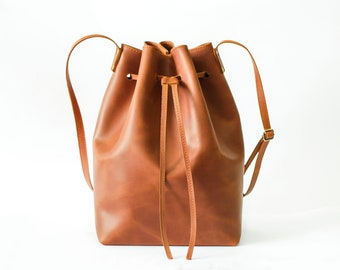 Bucket Bag, Bucket purse, Leather tote bag, Women's bag, Shoulder bag, Tote bag, Handbag, Crossbody Purse, Brown Bag