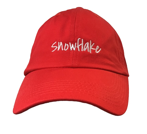 Snowflake (Polo Style Ball Cap - Various Colors with White Stitching)