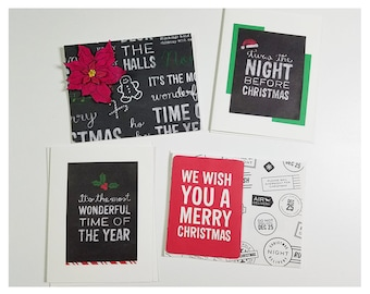 Assorted Simple Christmas Cards - Individual Cards with Envelopes