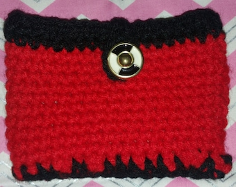 Crochet purse with lining for girls.