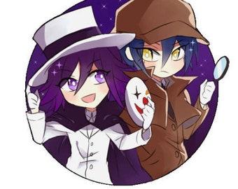 Detective Saihara Shuichi and Thief Kokichi Ouma Charm