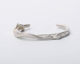 Silver Snake Bracelet   Snake Bangle   Women Snake Cuff   Silver Snake Jewelry   Serpent Bracelet  Snake Cuff Bracelet  Wild Animal Bracelet