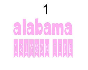 Alabama Crimson Tide banner decal