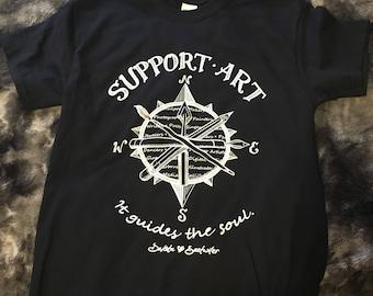 Support Art brand tee shirts