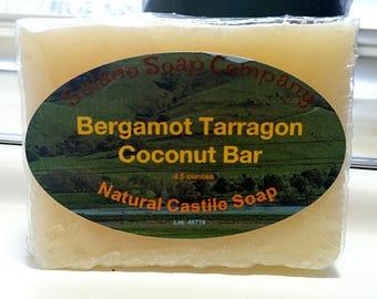 Bergamot Tarragon Scented Coconut Oil Soap Bar