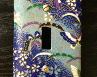 Origami Decoupage Switch Plate single light switch cover