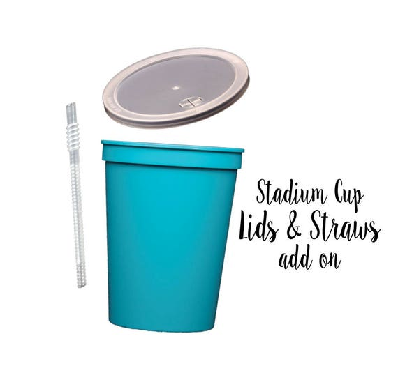 Personalized plastic lids and straws