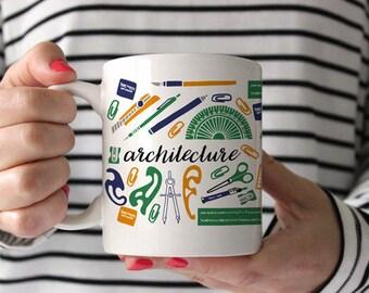 Architect Mug, Architecture Mug, Coffee Mug, Gift for Architect, Architect Gift, Architecture Gifts, Coffee Cup, Tea Mug, Architect Student