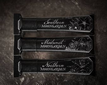 Lip Balm Tube Gift Set - Moongardens - Midwest, Northern, Southern - organic and natural flavors by For Strange Women, Floral Lip Balms