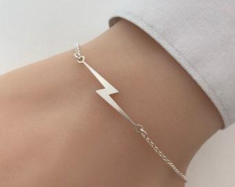 Sterling Silver Lightning Bolt Bracelet