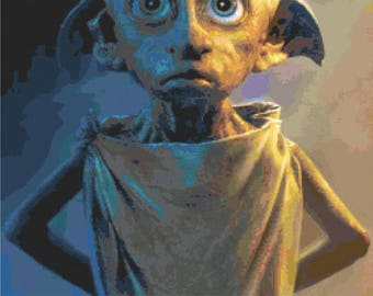 Harry Potter - Dobby the House Elf Cross Stitch Pattern