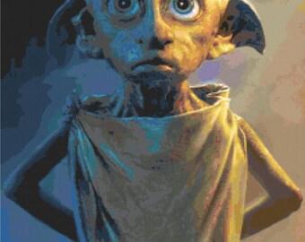 Harry Potter   Dobby The House Elf Cross Stitch Pattern