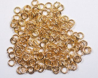 5mm Gold Plated Jump Rings - Choose Your Quantity