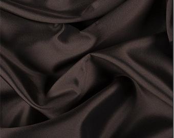 Brown/Black Silk/Wool Gab, Fabric By The Yard