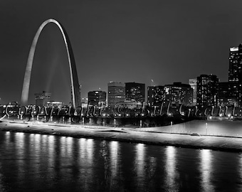 St Louis Skyline and Gateway Arch, St Louis Art Print Photo