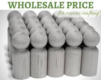 100x MEDium Wooden PEG DOLLS Bulk *Wholesale Price* US+Australia only/ Blank Wood peg dolls -'brother' size > Waldorf craft Montessori craft