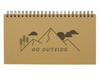 Go Outside Weekly Planner - Agenda | Desk Planner | Weekly Planner | Undated