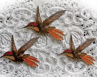 Reneabouquets Original Hummingbird Premium Paper Die Cut Set Of 3