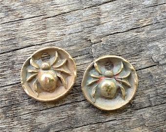 Bronze Garden Spider Charms