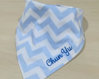 Baby Bibs - Baby boy bib - Reversible Bib - Cotton bibs - Personalized bib - Newborn gift - Embroidery bib - Bandana bib - Mix & match bib