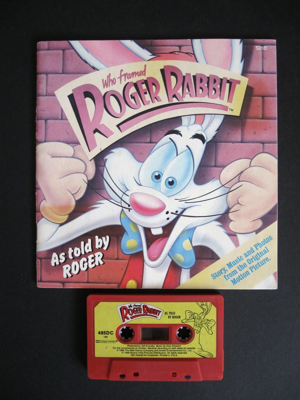 Vintage Disney Who Framed Roger Rabbit Book and
