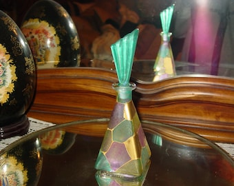 Vintage Perfume Bottle~Hand Painted in Italy