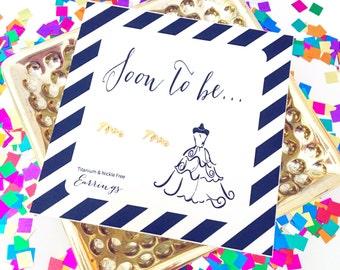 Mrs earrings, bride earrings, bride to be jewelry, engagement gift, gold stud earrings, wedding earrings