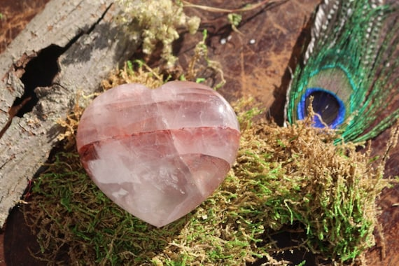 Large Pink Lithium Quartz Heart 255g, Heart Shaped Pink Crystal, Polished Lithium Quartz Heart, Large Pink Crystal Heart, Gifts for Her