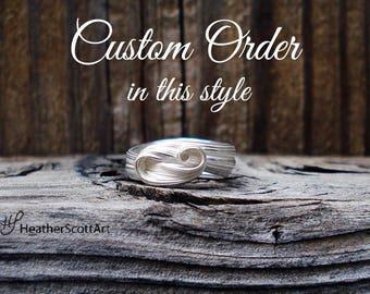 custom wave ring