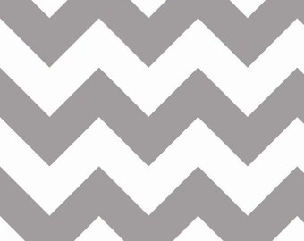 1 yard of Large Grey Chevron by Riley Blake