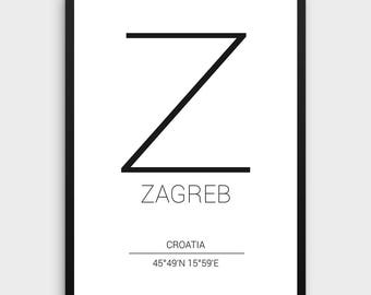 Business card template printable business card design zagreb printable poster zagreb poster zagreb coordinates print coordinates city posterminimal accmission Image collections