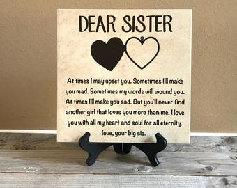 items similar to sister plaque on etsy