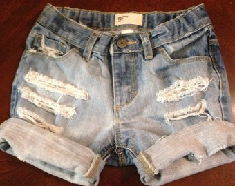 Baby girl distressed cuffed jean shorts, baby jean shorts, kids jeans, baby denim, baby shorts, trendy baby shorts