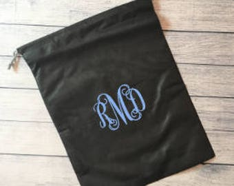 Personalized Monogrammed Travel Shoe Bag
