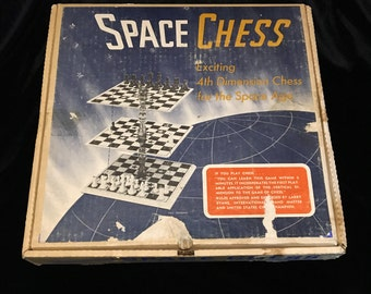 Space Chess - Exciting 4th Dimension - 1969 - Play Chess Like Spock