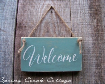 Wreath Signs, Wood Signs, Welcome Signs, Handpainted, Nautical,  Coastal Living, Home Decor, Beach, Porch Decor,  Gifts, Rustic